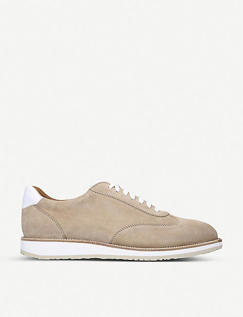 STEMAR: Oxford suede trainers