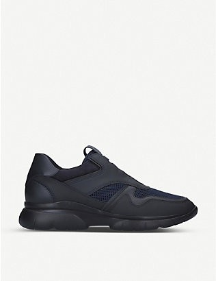 ERMENEGILDO ZEGNA: Sprinter leather and mesh trainers