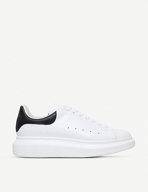 ALEXANDER MCQUEEN: Show leather platform trainers