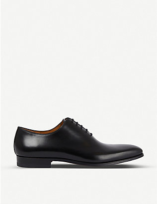 MAGNANNI: Wholecut leather Oxford shoes