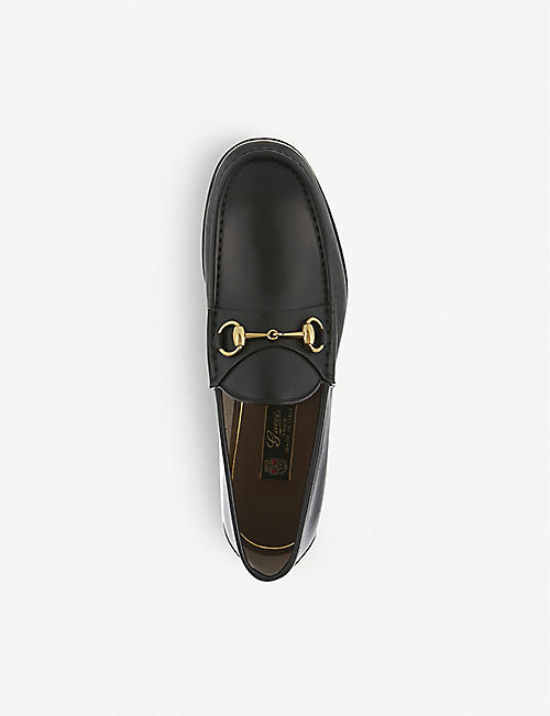 GUCCI Roos horsebit leather moccasins