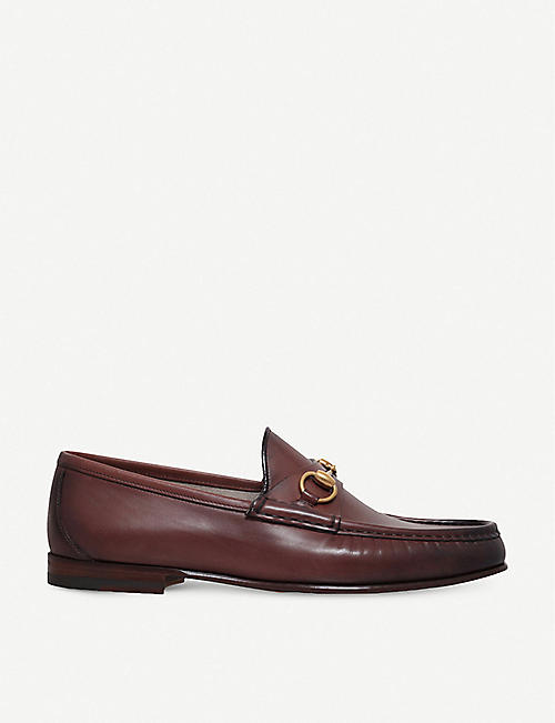 GUCCI: Roos horsebit leather moccasins