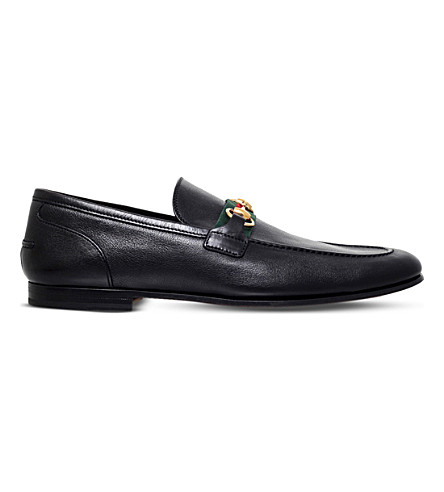 e6a2c1d4400 GUCCI Elanor leather loafers (Black