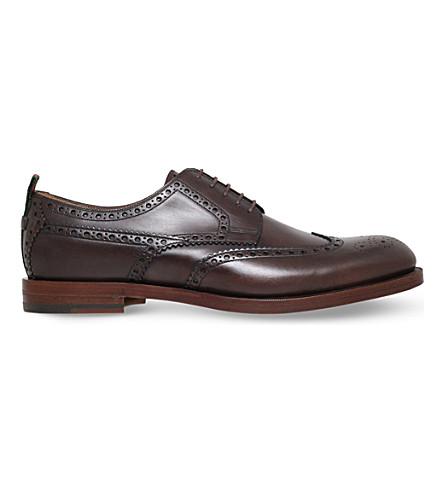 7eb915a79668 GUCCI - Strand leather derby shoes   Selfridges.com