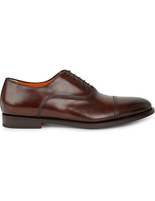 SANTONI: Leather Oxford shoes