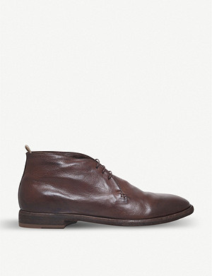 OFFICINE CREATIVE 3-eye leather desert boots