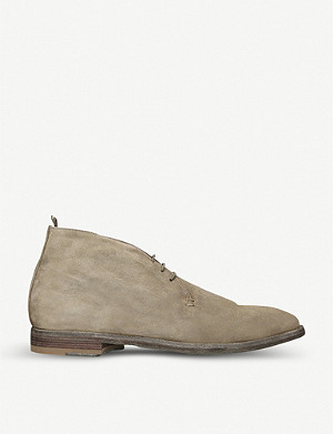 OFFICINE CREATIVE Three-eye suede desert boots