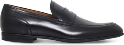 840a692a9f2 GUCCI - Ravello leather penny loafers