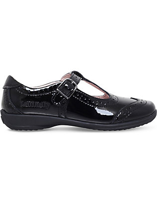 LELLI KELLY: Jennette T-bar patent-leather school shoes 4-8 years