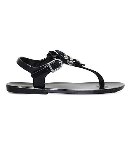 146ec1f16 MINI MISS KG Mini Dream floral embellished jelly sandals 7-9 years (Black