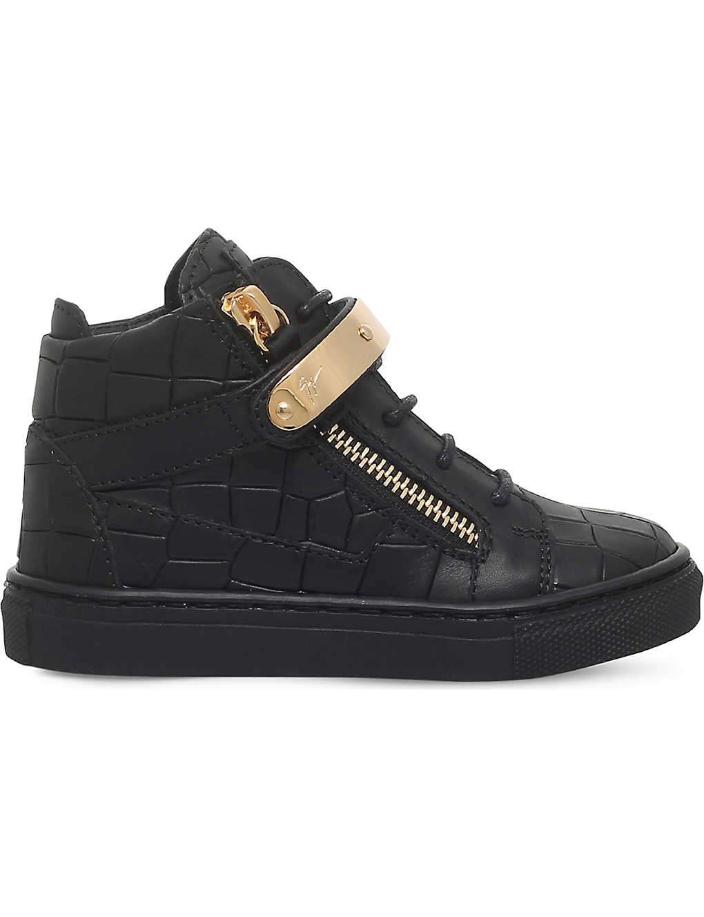 fa934fa9d9bed GIUSEPPE ZANOTTI - Nicki croc-embossed leather trainers 2-4 years ...