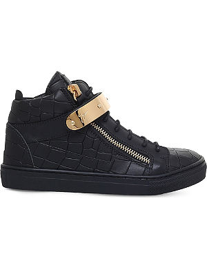 fbc80f18c4c75 GIUSEPPE ZANOTTI - Coby patent-leather and velvet trainers 2-4 years ...