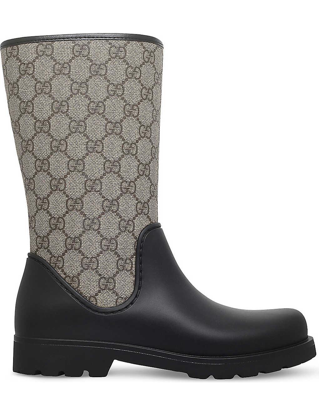 dadd62712157 GUCCI - Rainy GG supreme rain boots 8-10 years | Selfridges.com