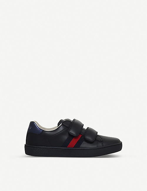 678739608c2 GUCCI New Ace VL leather trainers 4-8 years