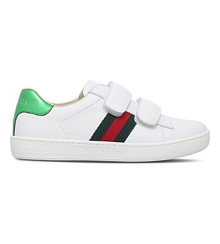 f5e7fc6b103 GUCCI New Ace VL leather trainers 4-8 years (White