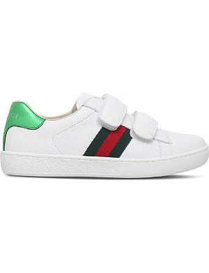 GUCCI New Ace VL 皮革运动鞋 4-8 岁