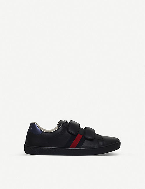 GUCCI New Ace VL 皮革运动鞋 8-10 岁