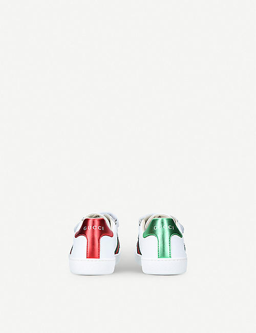 6b2b7572970f GUCCI New Ace VL leather trainers 8-10 years