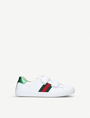 GUCCI New Ace VL leather trainers 8-10 years