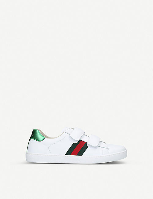 GUCCI: New Ace VL leather trainers 8-10 years