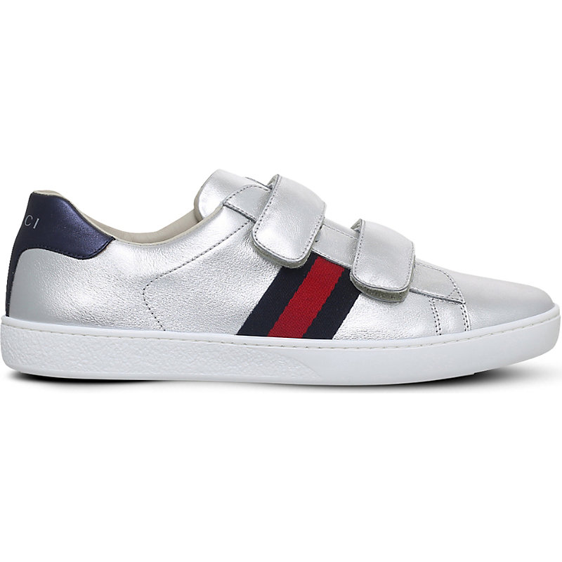 GUCCI | New Ace VL Metallic Trainers 6 Months-2 Years | Goxip