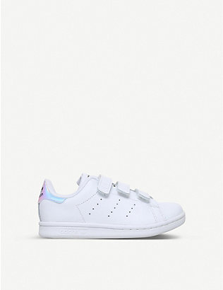 ADIDAS: Stan Smith leather trainers 6-8 years