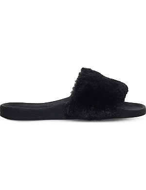 MINI MISS KG Mini Koat faux-fur sliders 4-7 years