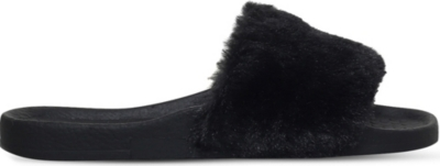 MINI MISS KG Mini Koat faux-fur sliders 7-9 years