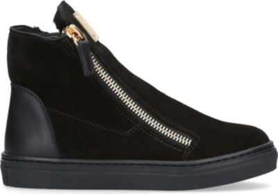 GIUSEPPE ZANOTTI Larry zipped suede trainers 4-8 years
