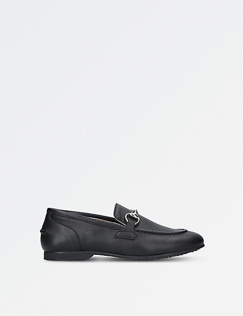 GUCCI: Jordaan leather loafers 4-8 years