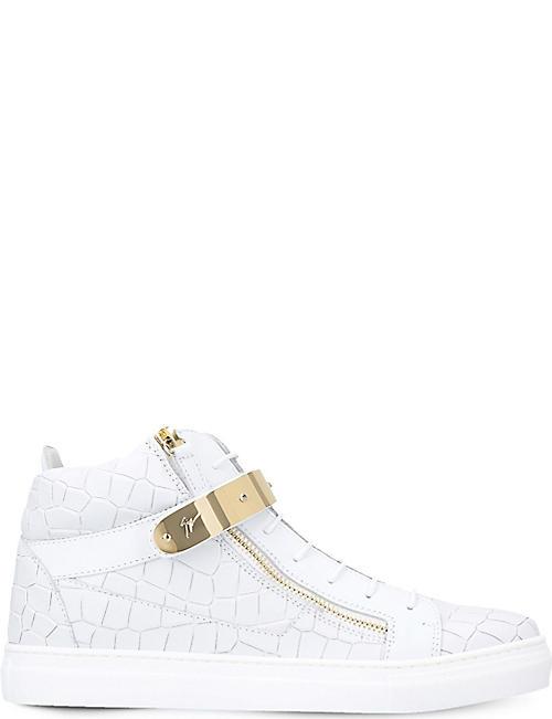 803063019dd0 GIUSEPPE ZANOTTI Nicki croc-embossed leather trainers 8-12 years