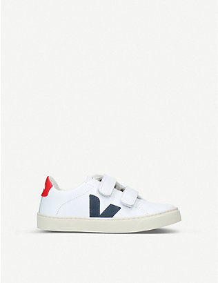 VEJA: Esplar leather trainers 6-9 years