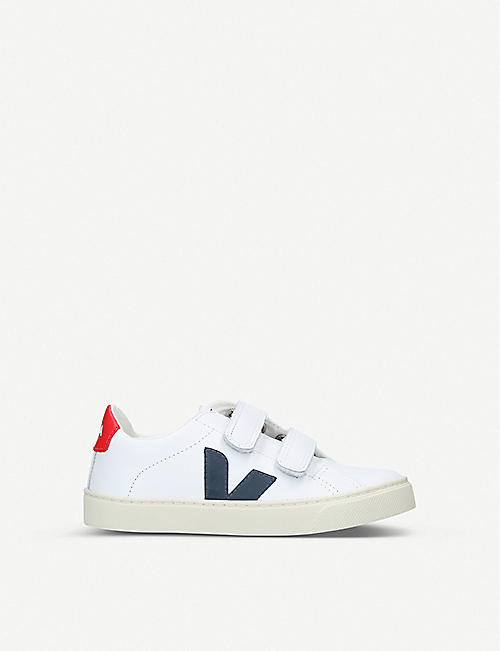 VEJA Esplar leather trainers 6-9 years