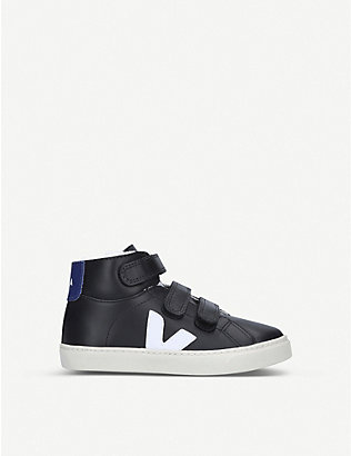 VEJA: Esplar high-top shearling-lined trainers 6-9 years