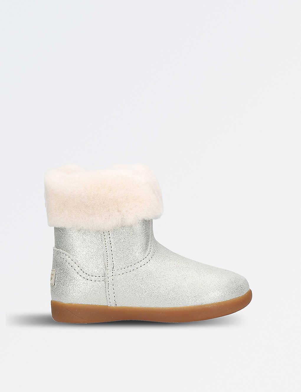 bbd0a176cb7 Jorie II metallic suede and sheepskin boots 3-6 years