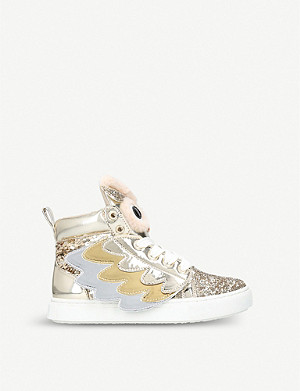 MINI MISS KG Twit Twoo high top trainers