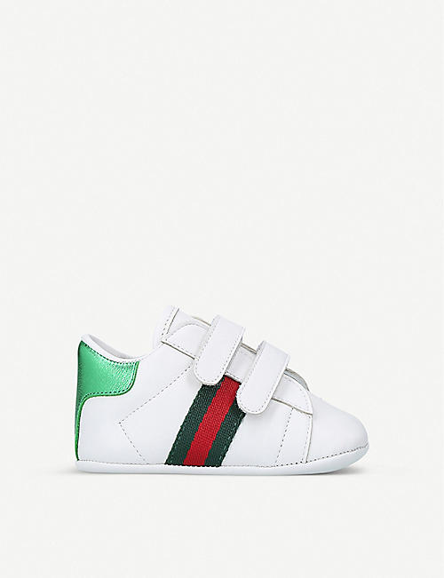 GUCCI: New Ace leather trainers 4 months-3 years