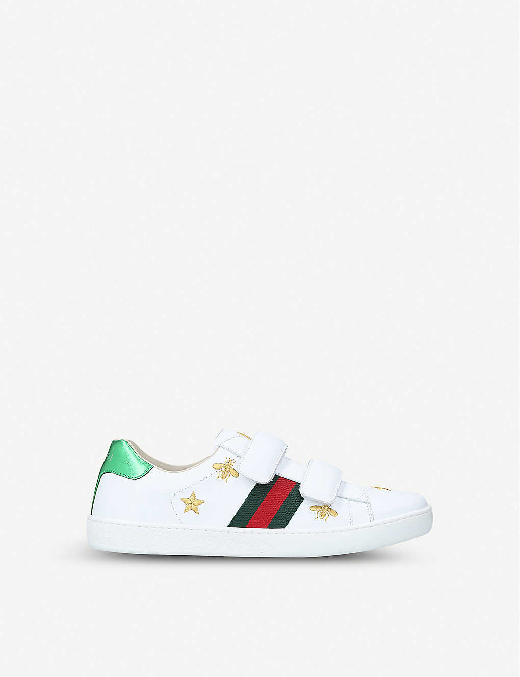 GUCCI: New Ace bee star leather trainers