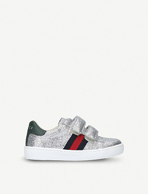 GUCCI New Ace VL glitter trainers 2-5 years