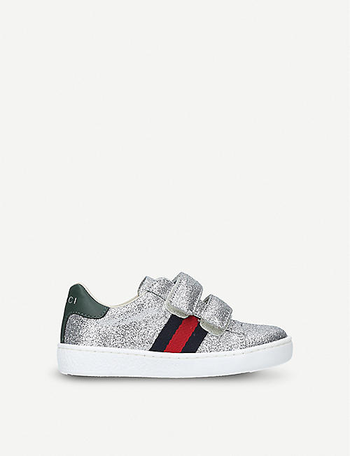 73c46f9845d GUCCI New Ace VL glitter trainers 2-5 years