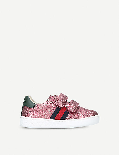 4952aebfe7d GUCCI New Ace VL glitter trainers 2-5 years