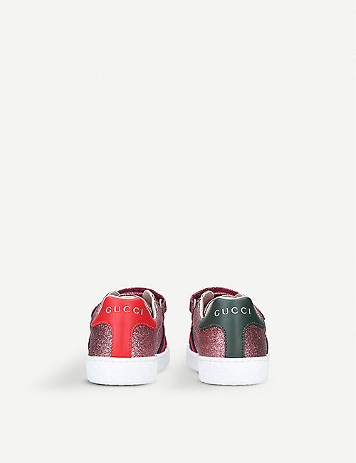 GUCCI New Ace VL glitter trainers 4-8 years