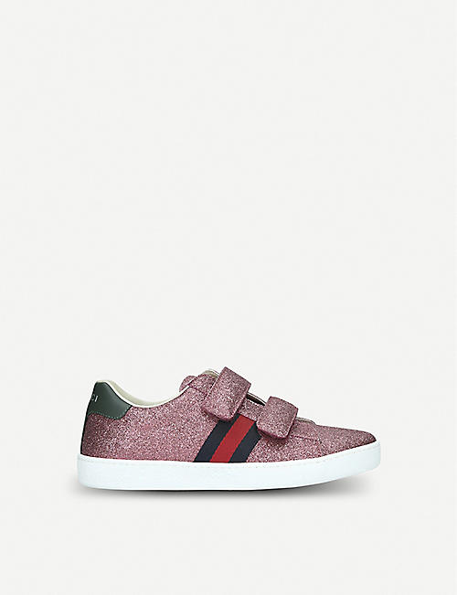 GUCCI New Ace VL glittered trainers 6 months-5 years