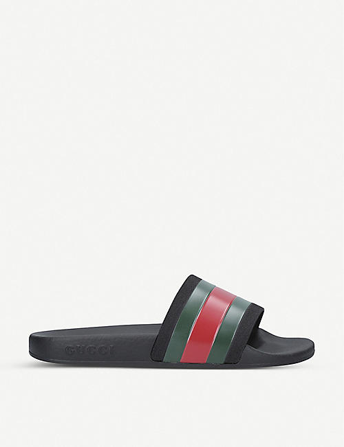 51a607695c2 GUCCI Pursuit rubber sliders 8-9 years