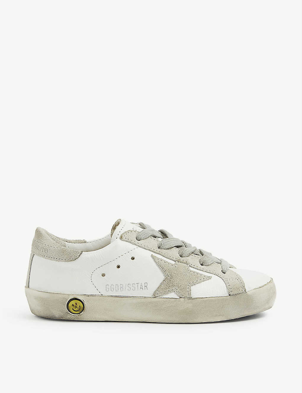 GOLDEN GOOSE: Superstar A5 leather trainers 6-9 years