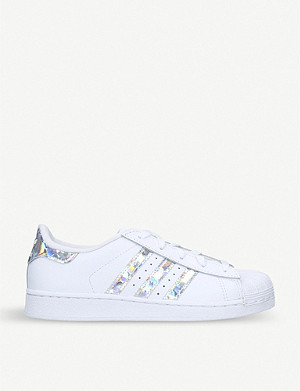 ADIDAS Superstar iridescent-stripe leather trainers 6-8 years