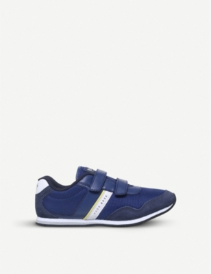 BOSS BY HUGO BOSS Hans low-top leather and mesh trainers 6-9 years