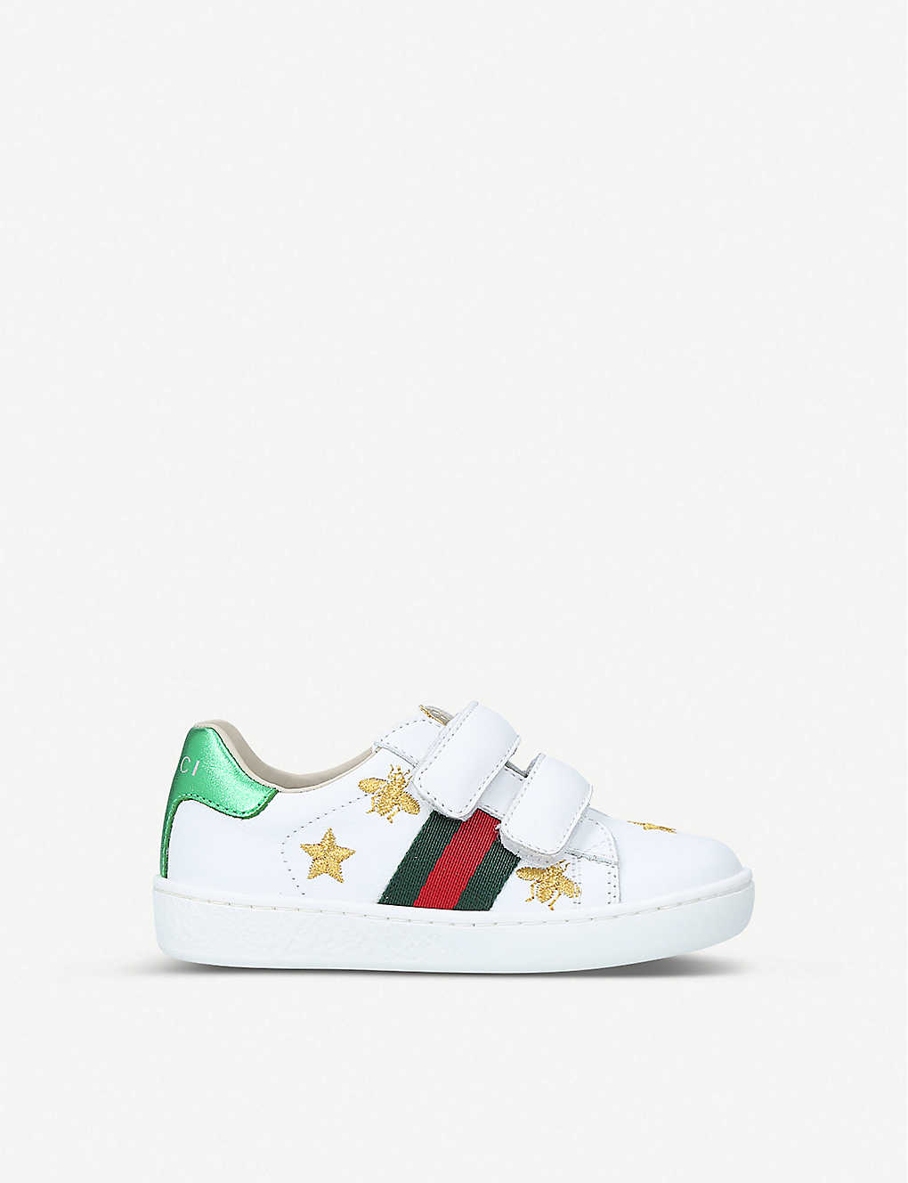 GUCCI: New Ace bee star leather trainers 1-4 years