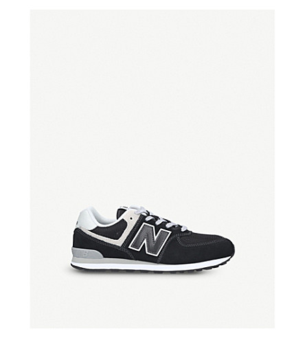 new concept 75d53 78037 NEW BALANCE - 574 suede and mesh trainers 9-10 years ...