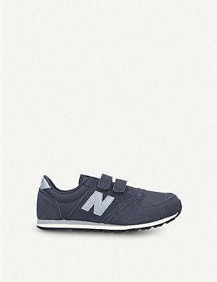 NEW BALANCE: 420 suede and mesh trainers 7-10 years